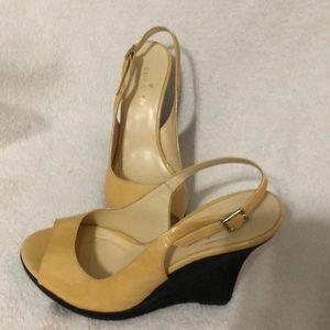 Kate Spade peep toe wedges